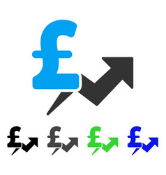 Pound price growth flat icon vector