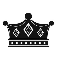 Prince crown icon simple style vector