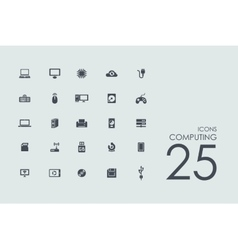Set of computing icons vector image
