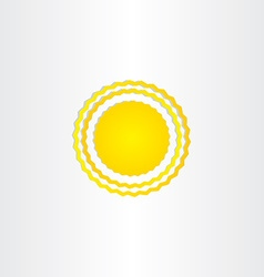 Sun energy wave design vector