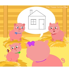 The three little pigs 2 vector
