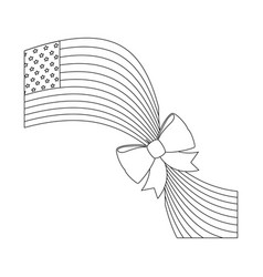 united states of america design vector image vector image