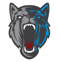 wolf head logotype vector image