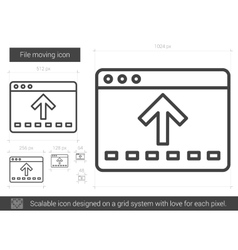 File moving line icon vector