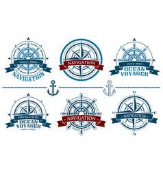 Nautical logos set vector