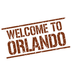 Welcome to orlando stamp vector