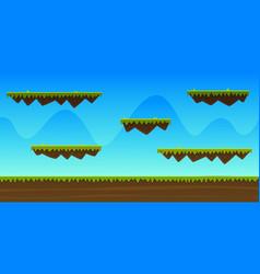 Cartoon game background vector