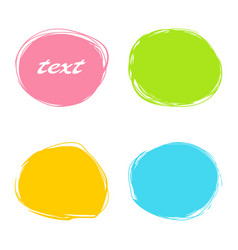 Colorful roundish banners vector