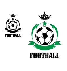 Football or soccer crests and emblems vector