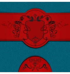 Heraldic colored background vector