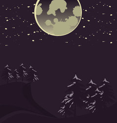 Wilderness in the moonlight vector