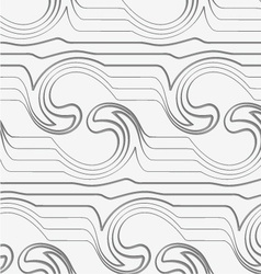 Gray abstract waves with thickening reflected vector