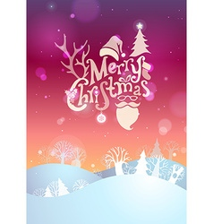 Merry christmas sunset background vector