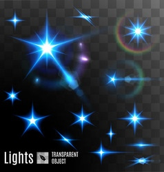Set of transparent stars vector