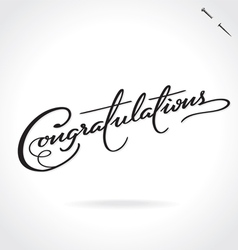 Congratulations hand lettering vector