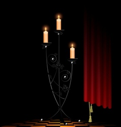 abstract black chandelier vector image