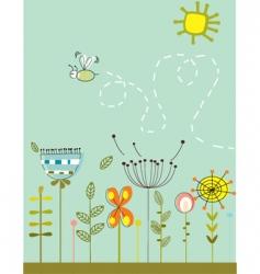 abstract garden vector image vector image