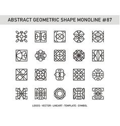 Abstract geometric shape monoline 87 vector