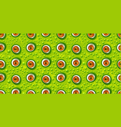 Abstract green monster eye seamless pattern vector