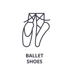Ballet shoes line icon outline sign linear vector