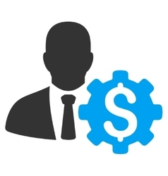 Banker options icon vector