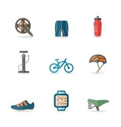 Bike Icons Flat vector image vector image