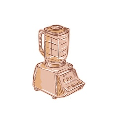 Blender vintage etching vector