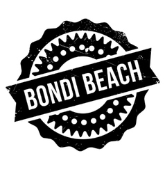 Bondi beach stamp vector