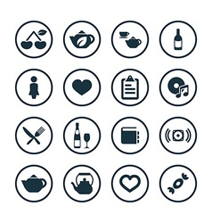 Cafe icons universal set vector