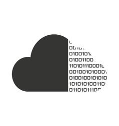 cloud computing binary code vector image