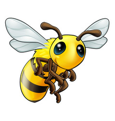 cute bee character vector image vector image