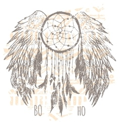 Dreamcatcher print t-shirt graphics vector image