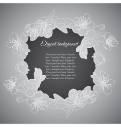Elegant frame with branch of apricot flowers vector