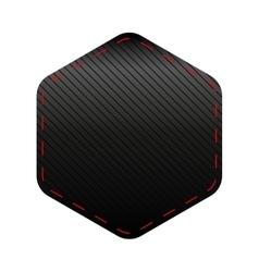 Empty Hexagon patch sticker vector image vector image