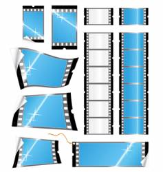 film strip tags and stickers vector image vector image