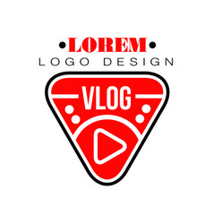 Geometric logo for vlog or youtube channel vector