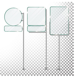 glass billboard isolated on transparent vector image