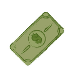 Green bill dolar money vector