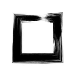 Grunge square frame vector