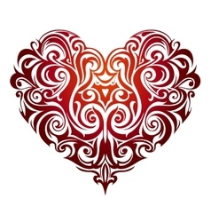 Heart shape ornament vector image vector image