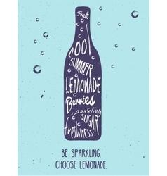 Lemonade vintage card vector