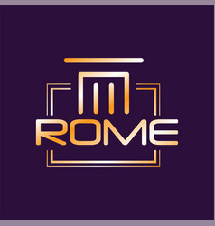 Minimalist logo of rome city in gradient color vector
