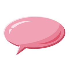 Pink speech bubble oval shape icon cartoon style vector