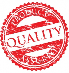 Quality logo vector