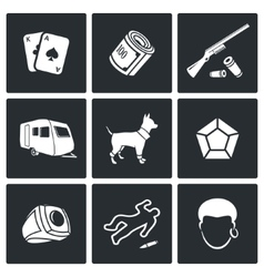 Romany icons vector