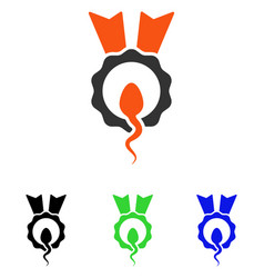 sperm winner flat icon vector image