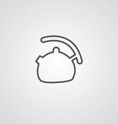 teapot outline symbol dark on white background vector image