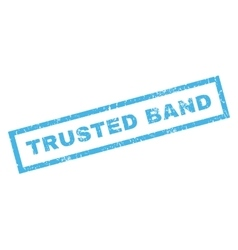 Trusted band rubber stamp vector