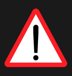 Warning hazard sign flat icon vector