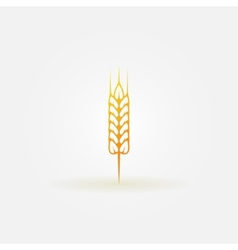 Wheat logo or icon vector image